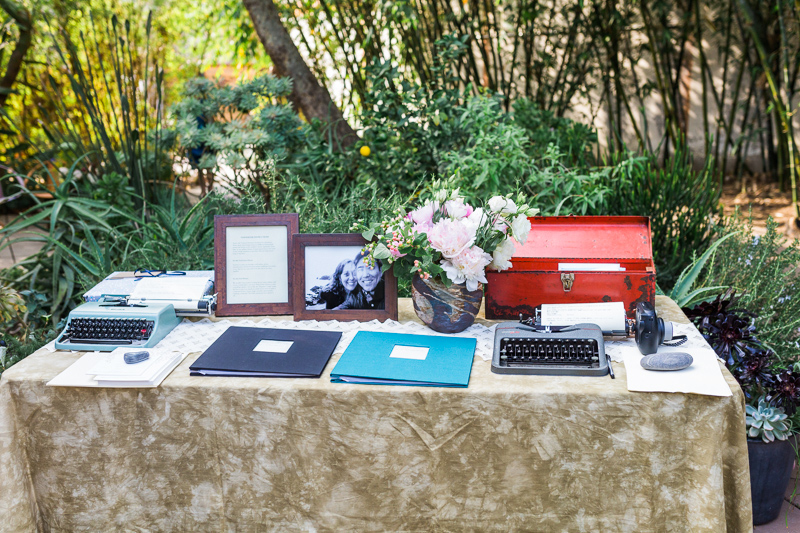 LA wedding vintage typewriters guestbook