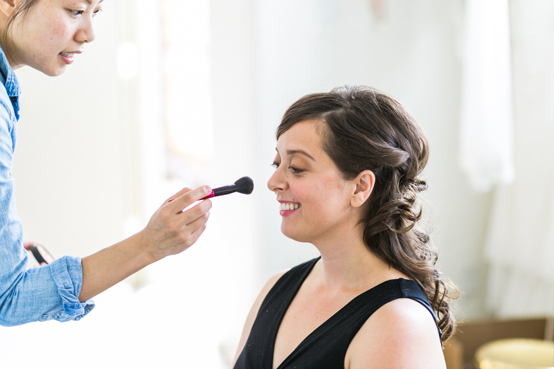 Los Angeles wedding photography. Bride getting ready.