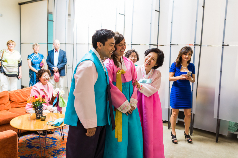 Los Angeles Korean paebaek wedding at Elysian venue
