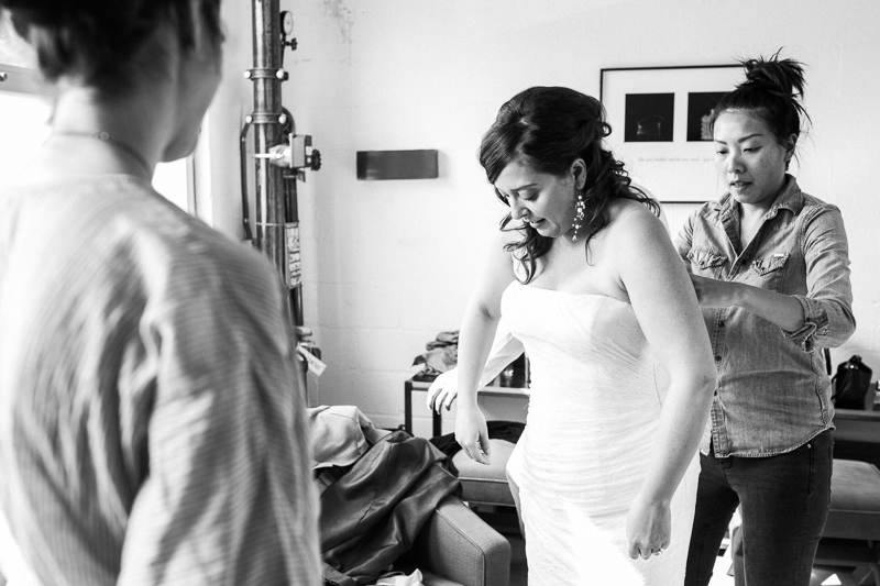 Los Angeles wedding photographer. Bride getting ready