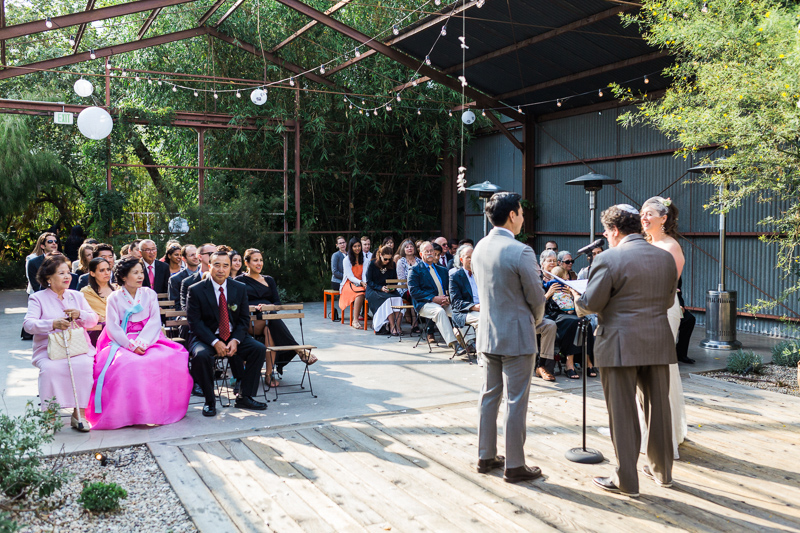 Offbeat intercultural wedding ceremony at Elysian LA