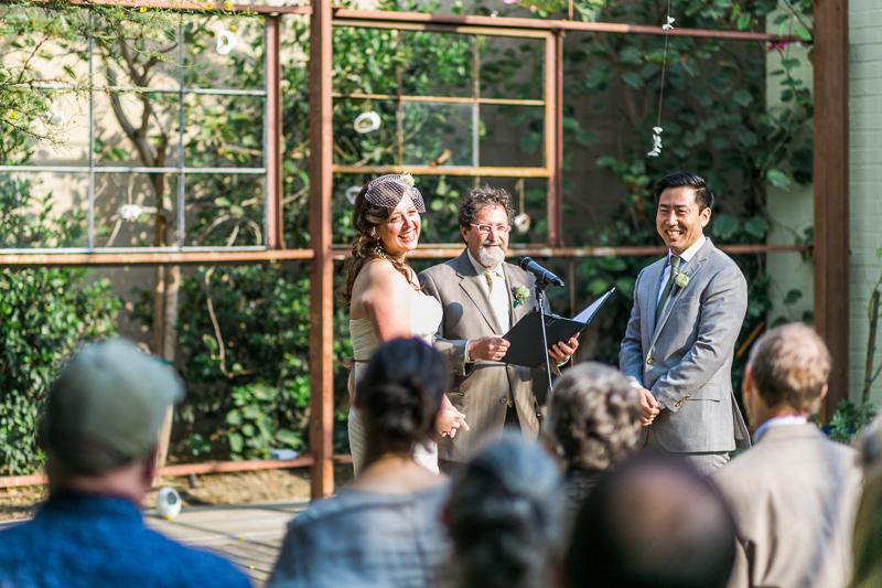 Sweet outdoor wedding ceremony at Elysian Los Angeles