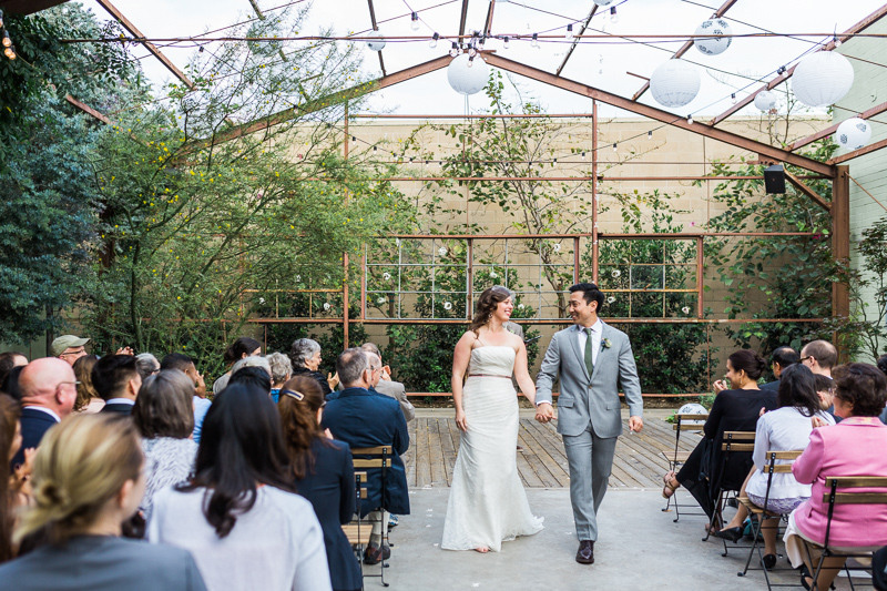 Romantic Elysian LA wedding ceremony