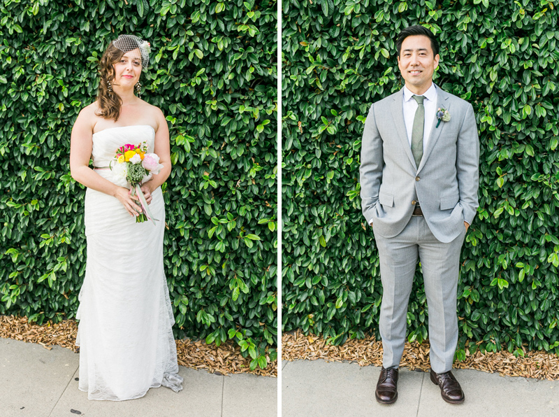 Los Angeles bride and groom portraits at Elysian LA wedding