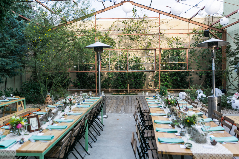 Whimsical, natural, rustic DIY decor for Elysian LA wedding venue