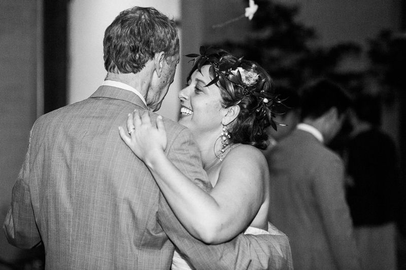 Los Angeles bride and father dance at wedding