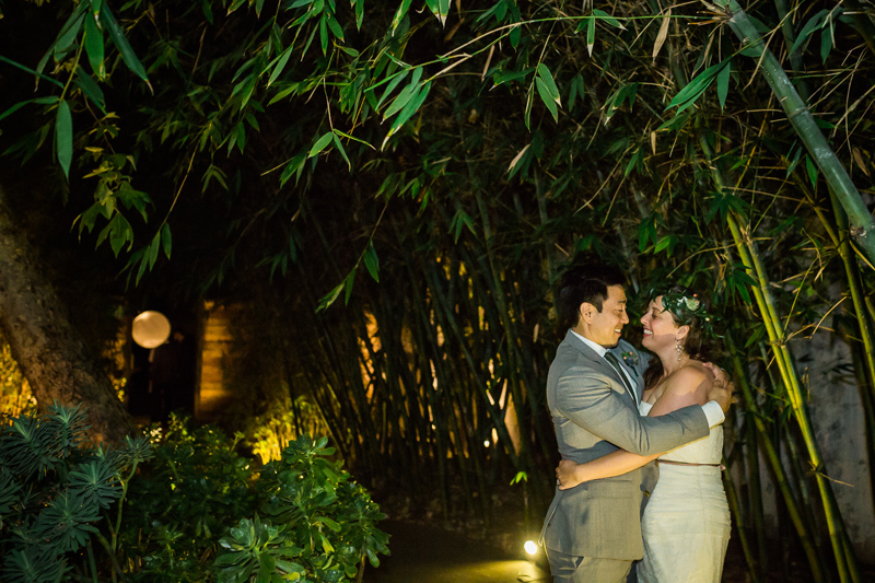 Night time portraits at Elysian Los Angeles wedding