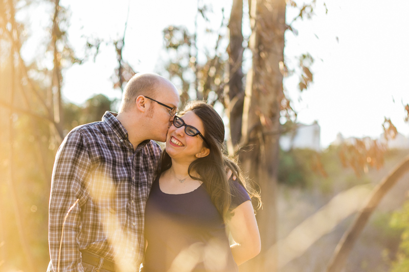 Sweet, natural, romantic engagement photos in LA