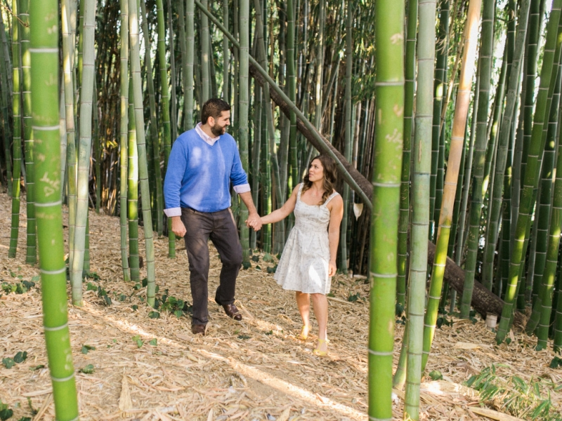 LA Arboretum elopement photographer. Natural outdoor weddings. Bamboo forest.