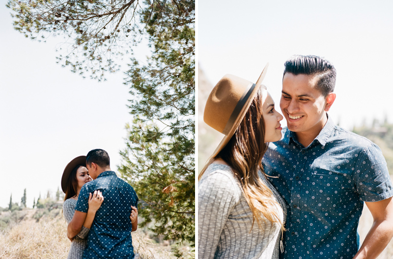 Los Angeles hiking adventure engagement session film photographer