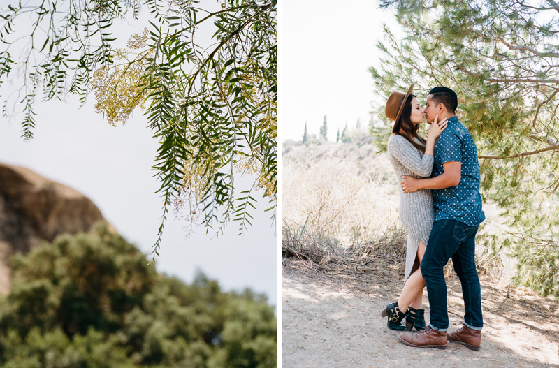 Romantic natural outdoor engagement photography