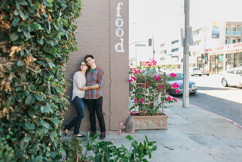 Los Angeles Larchmont Village lifestyle documentary engagement and anniversary photographer