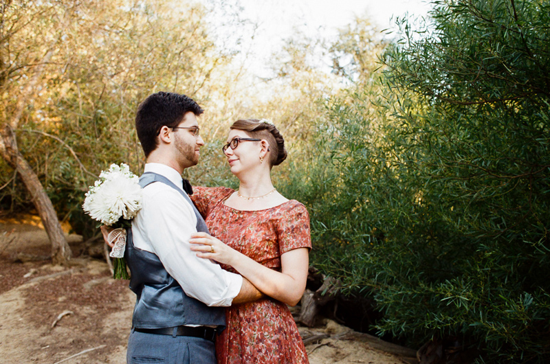 Outdoor elopement in natural setting at Franklin Canyon Los Angeles