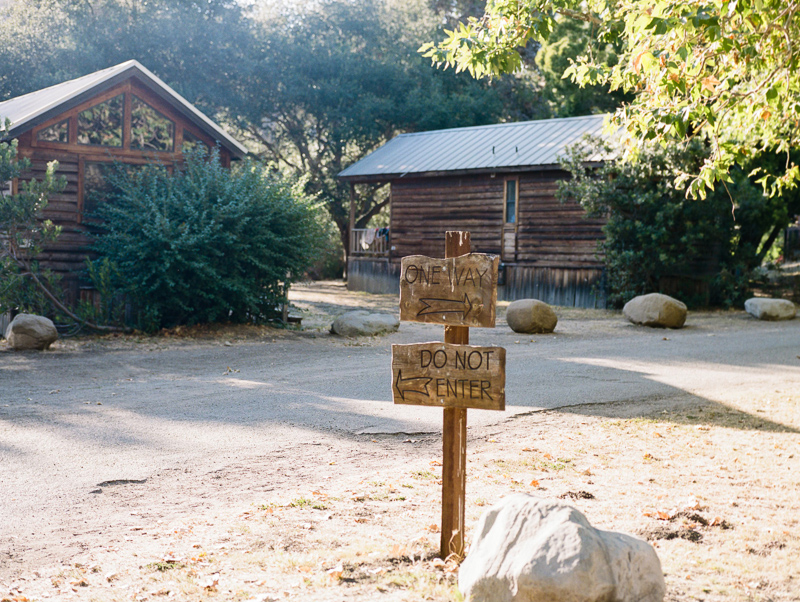 Cabins for elopements and intimate outdoor weddings at rustic romantic El Capitan Canyon