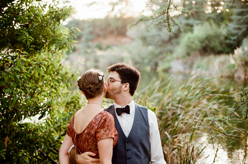 romantic outdoor elopement adventure captured on film in Los Angeles