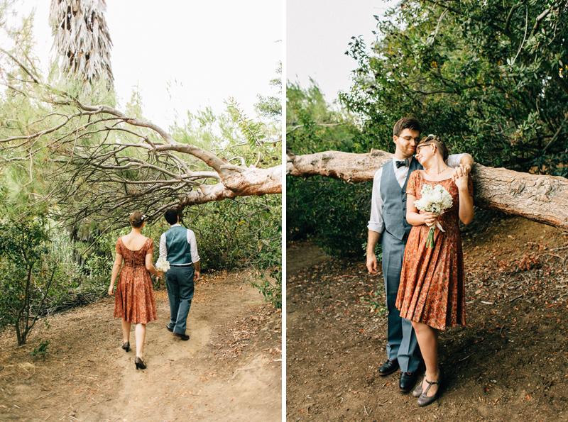 Forest elopement at Franklin Canyon park in Los Angeles by film photographer Jessica Schilling