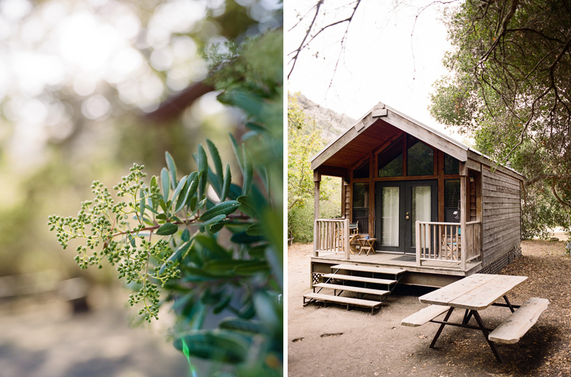 Glamping cabins for romantic getaway weekend at El Capitan Canyon