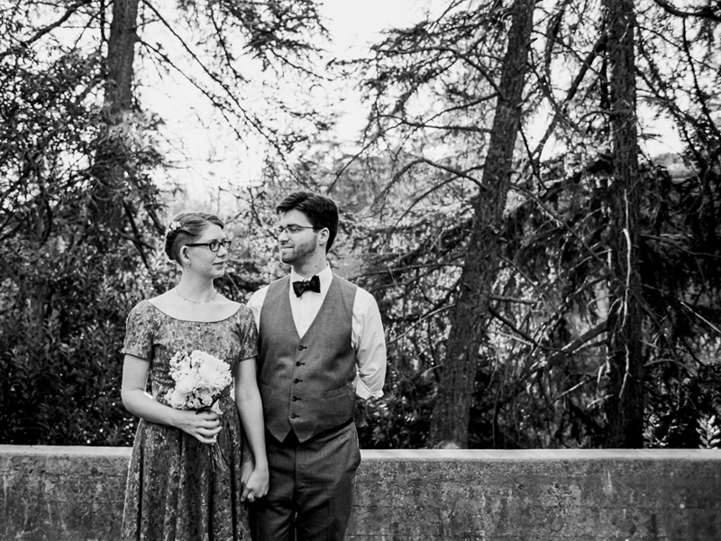 Intimate wedding and elopement photographer in California at Franklin Canyon park