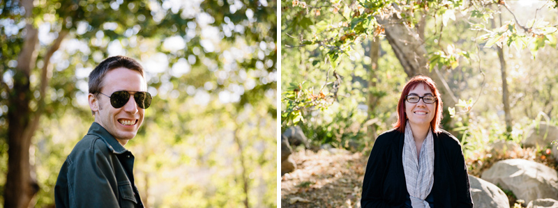 Anniversary photos on film at El Capitan Canyon in Santa Barbara California