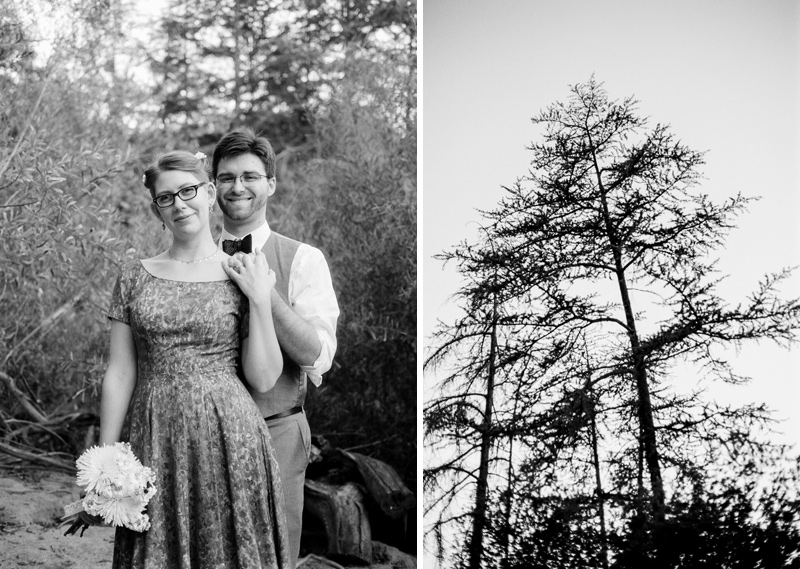 Franklin Canyon park elopement on film