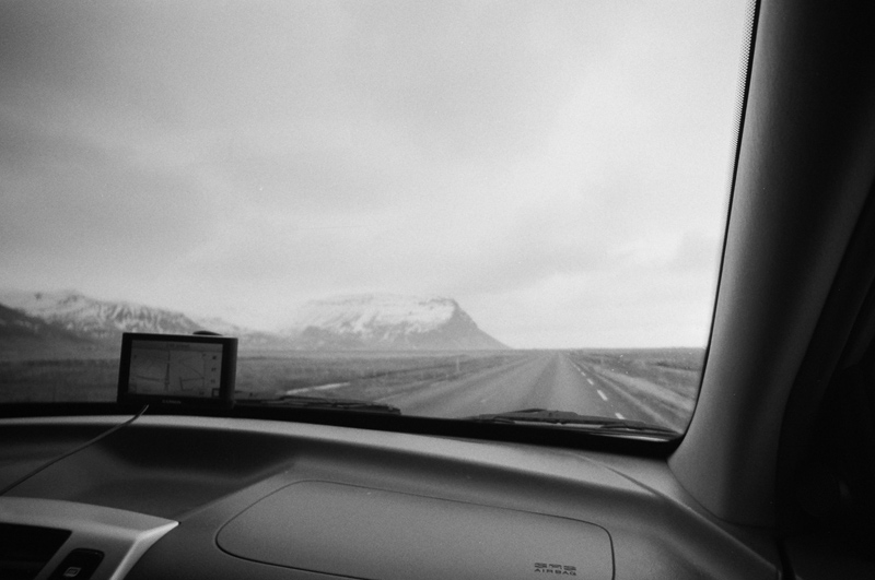 Iceland travel photography on black and white film with Lomo LC Wide toy camera