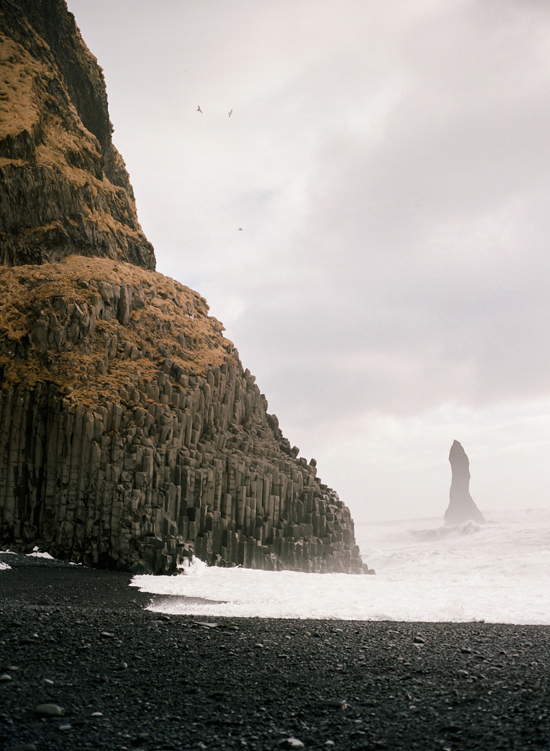 Reynisfjara in South Iceland on film.