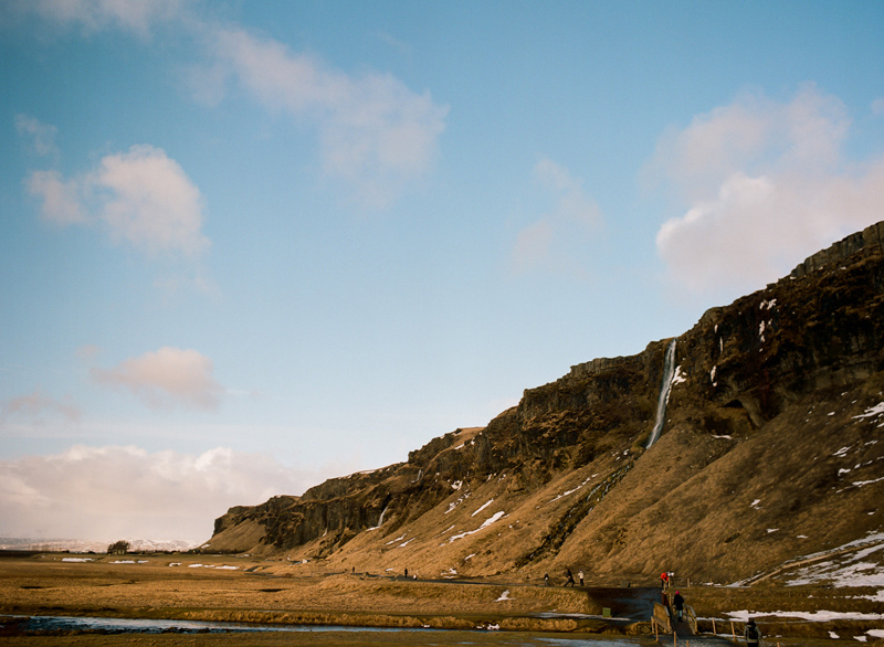 Gorgeous natural scenery in South Iceland. Destination travel photography on film.