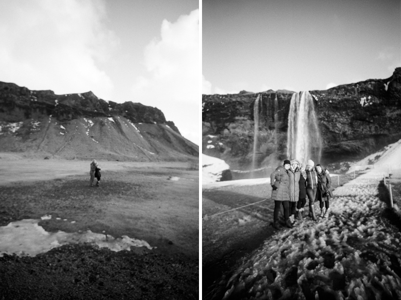 Seljalandsfoss waterfall in south Iceland on film with Lomography Lomo LC Wide toy camera
