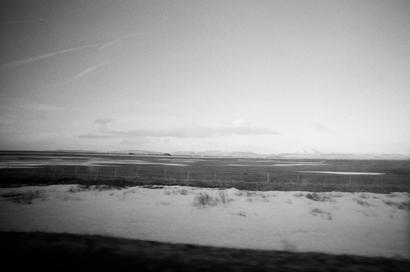 Driving through southern Iceland. Lomo LC Wide, Kodak Tri-X 400