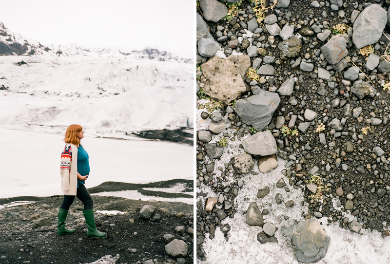 Solheimjakoll Glacier portrats and travel photography on film in Iceland.