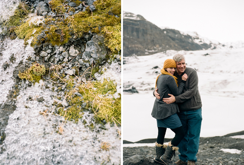 Moss, glacial melt, and a cute couple. Destination elopements and travel photography.