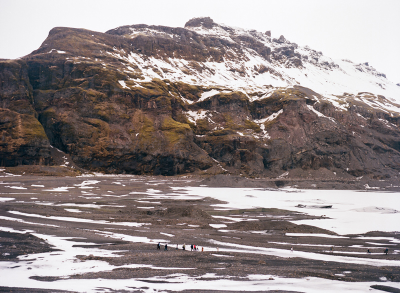 Solheimjakoll glacier in South Iceland. Destination travel photographer Jessica Schilling
