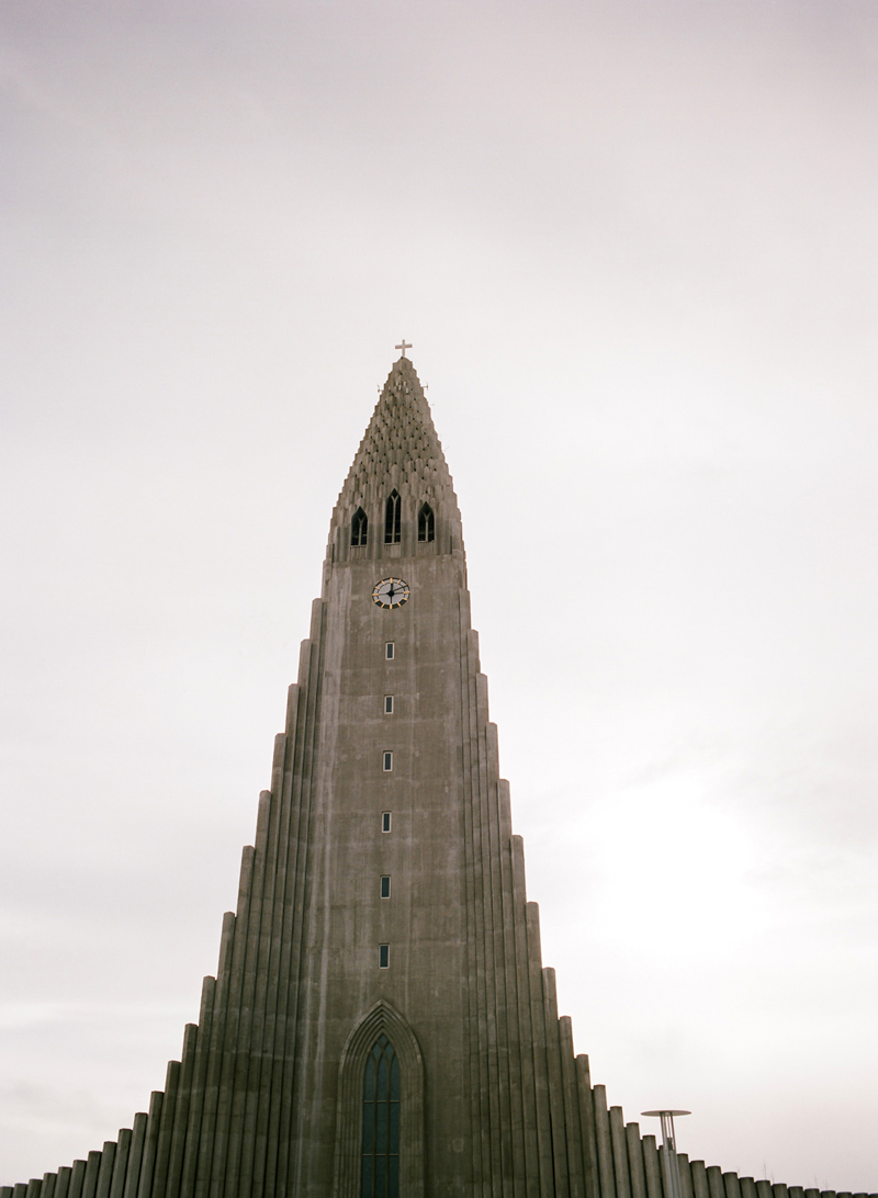 Reykjavik Iceland travel and architecture photography of Hallgrimskirkja church