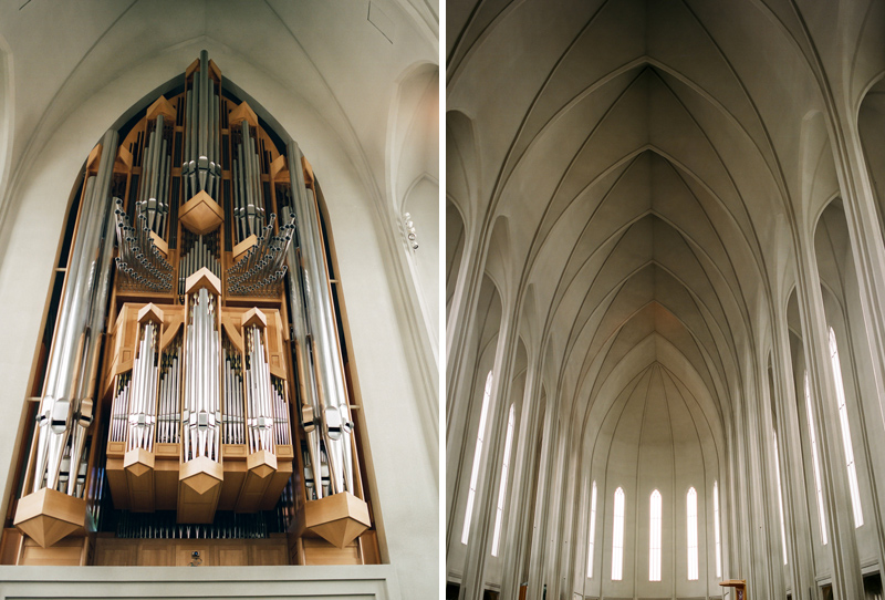 Reykjavik Iceland travel and architecture photography inside Hallgrimskirkja church