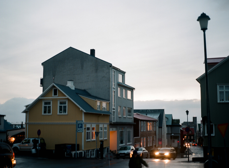 Reykjavik Iceland. Destination travel photography on film.