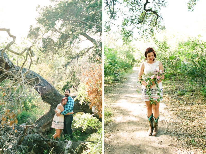 Anniversary photos on film at Solstice Canyon Malibu