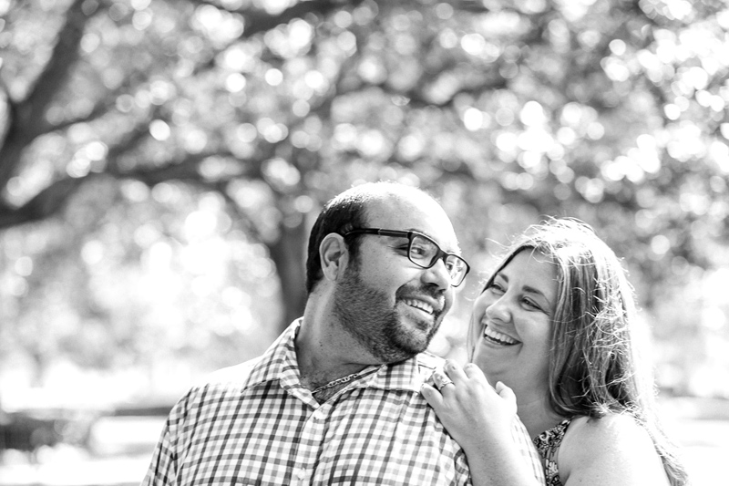 Sweet romantic natural engagement photography