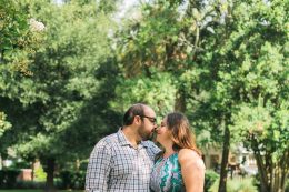 Sweet engagement photography in nature