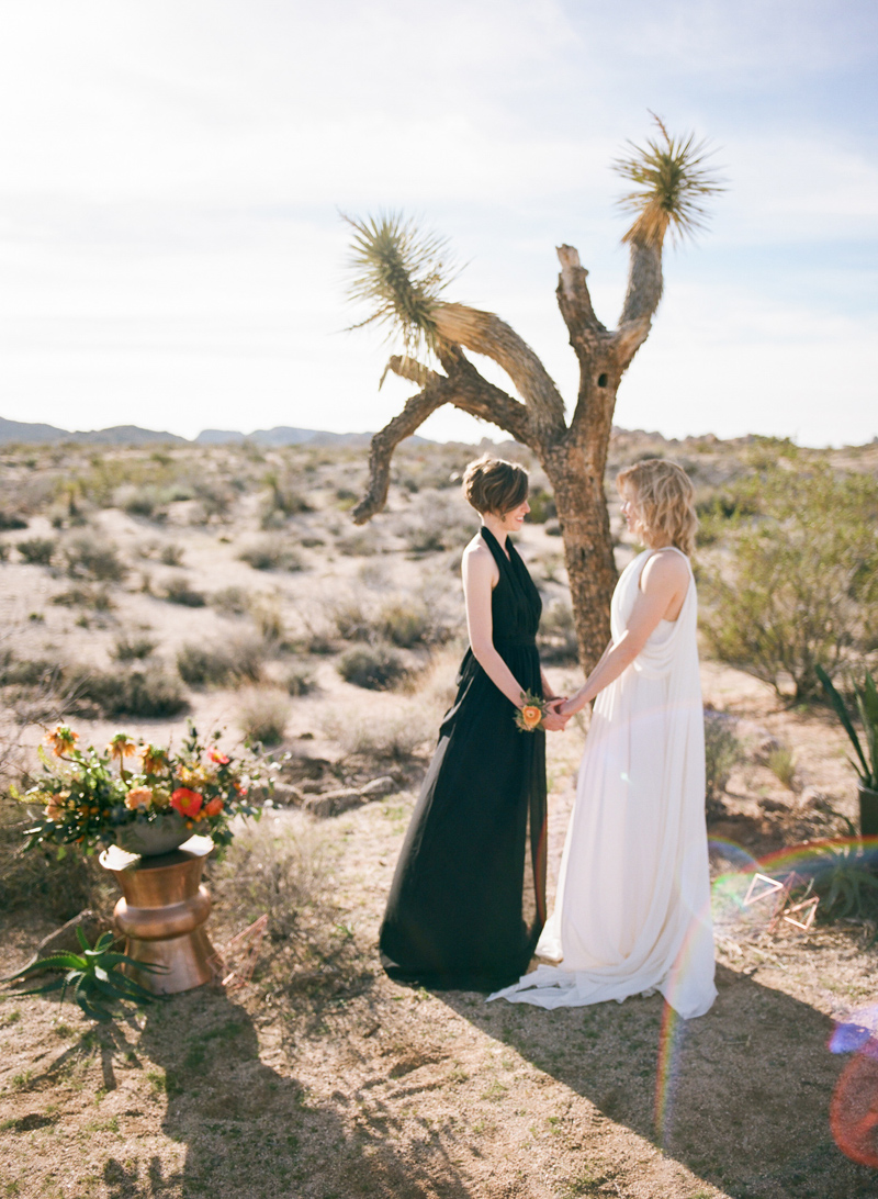 Joshua Tree elopement wedding ceremony in the desert