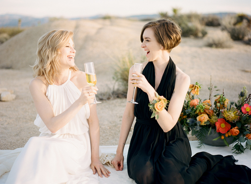Los Angeles film photographer Jessica Schilling. Desert elopement