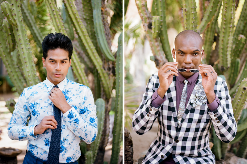 Palm Springs elopement with 2 grooms. LGBTQ friendly photographer