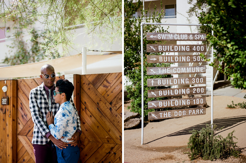 Palm Springs elopement photographer - ACE Hotel wedding venue