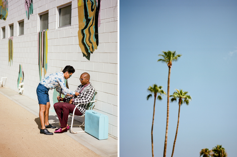 Hipster Palm Springs elopement at ACE Hotel