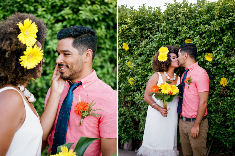 Intimate wedding photography. Palm Springs elopement on film.