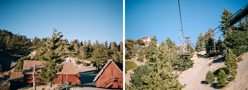 Angeles National Forest - pine trees, mountains, ski lift for a wooded wonderland wedding