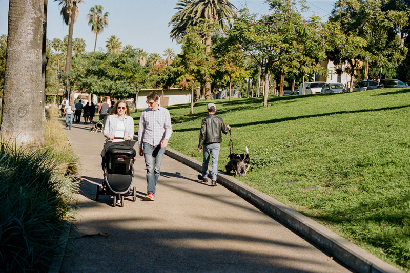 Newborn documentary family session at Echo Park Lake in Los Angeles