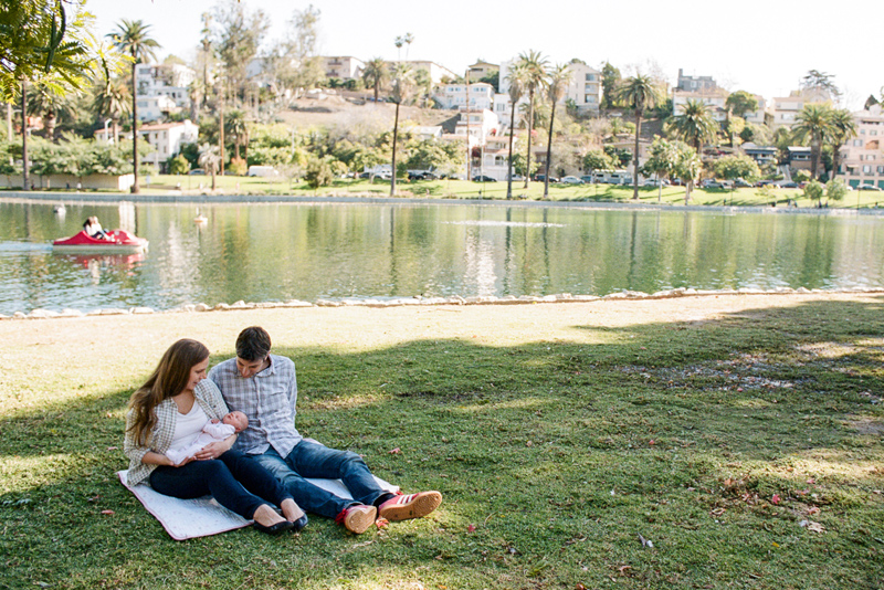 Lifestyle family photography. Outdoor session on film at Echo Park Lake