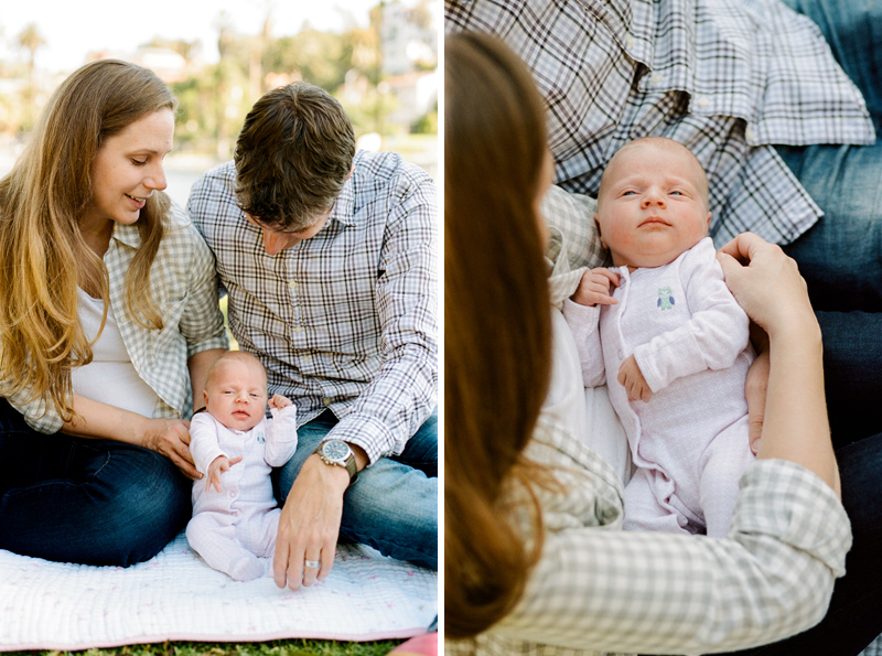 Outdoor family photos session in Los Angeles. Film photographer Jessica Schilling