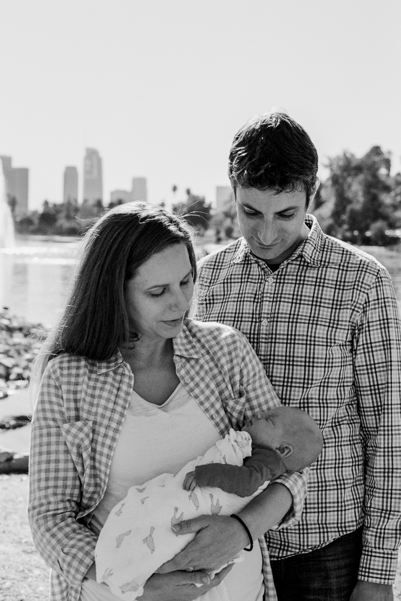 Los Angles film photographer for outdoor family portraits