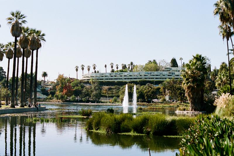 Echo Park Lake on 35mm film. Los Angeles film photographer Jessica Schilling